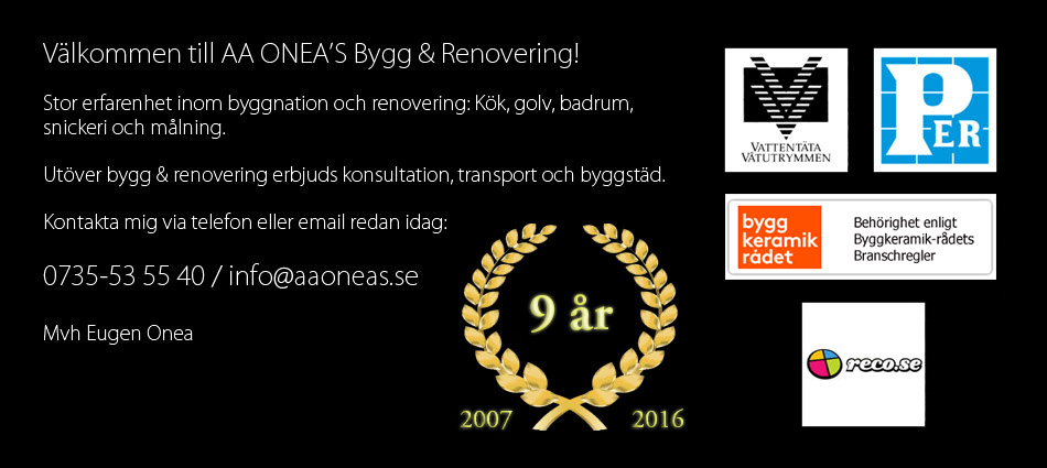 AAONEA'S Bygg & Renovering